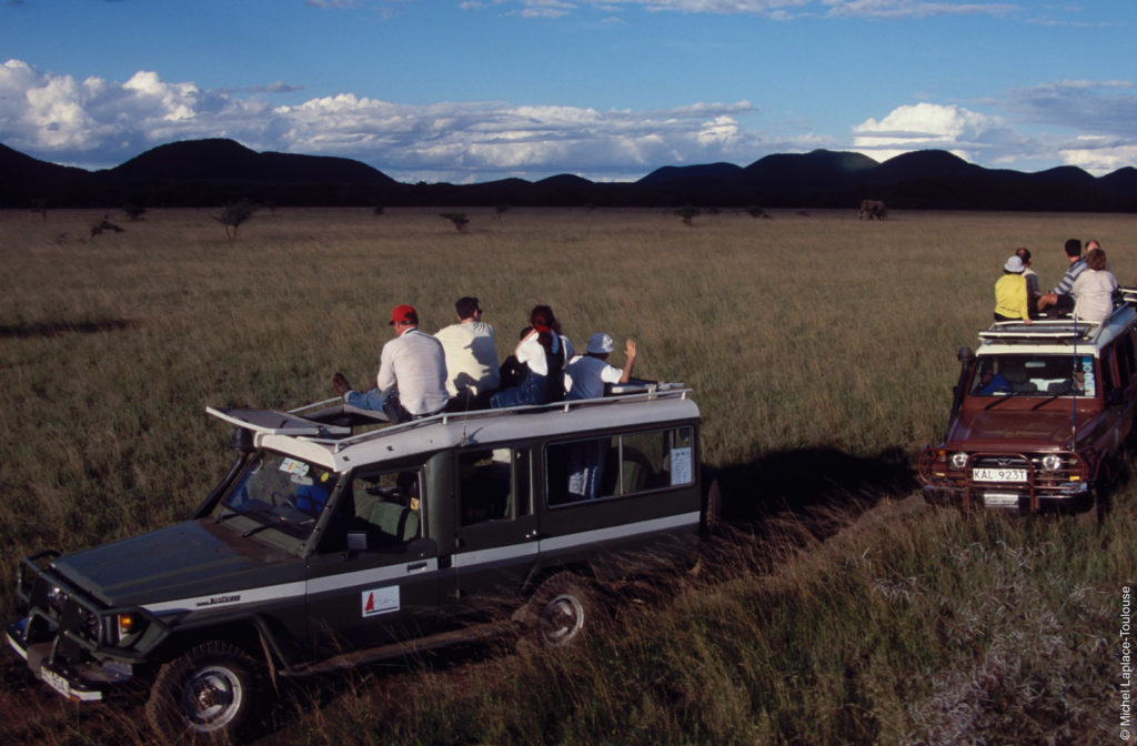 Safari Vehicles in the Chyulu Hills