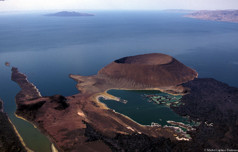 Aerial Shot of Lake Turkana