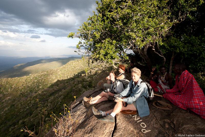 Tourist looking over Samburu County